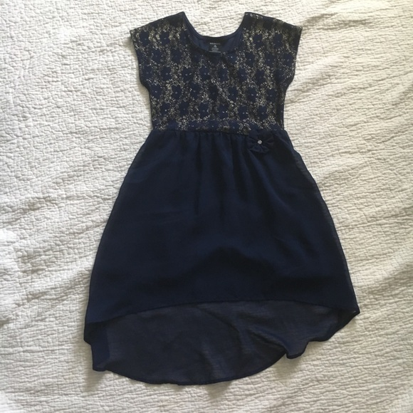 George Other - Navy dress with gold glitter